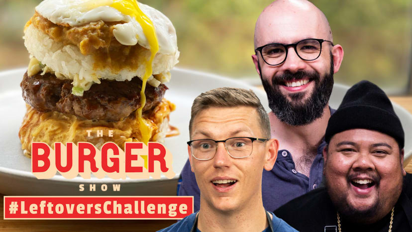 Binging with Babish, Mythical Chef Josh, and Alvin Cook the Ultimate Leftovers Burger | The Burger S