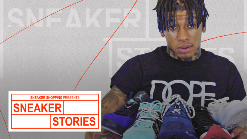 NLE Choppa Talks His First Pair, Must Haves And The Sneakers He's Ruined On Sneaker Stories