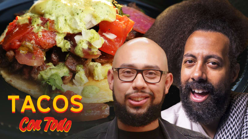 Reggie Watts Beatboxes While Eating Peruvian-Style Tacos