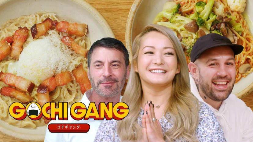 "Frank Pinello and Mark Iacono Eat ""Japanese Pasta"" | Gochi Gang"