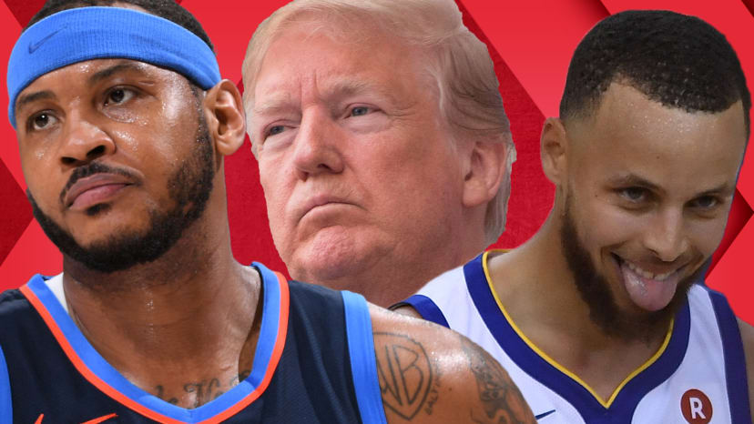 NBA Stars Hate Steph Curry; Trump Disinvites Eagles; Carmelo Anthony IG Hate | Out of Bounds