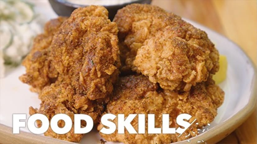 How Japanese Fried Chicken Gets Extra Crispy | Food Skills