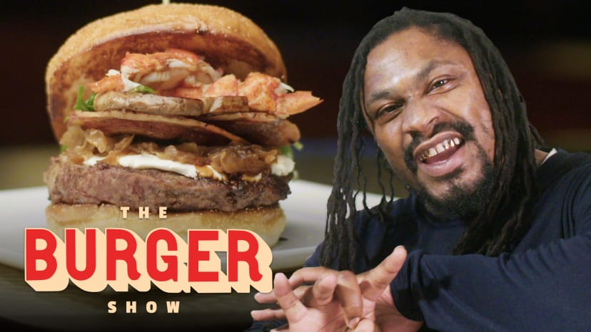 Marshawn Lynch Goes Beast Mode on a $1200 Burger in Las Vegas   The Burger Show