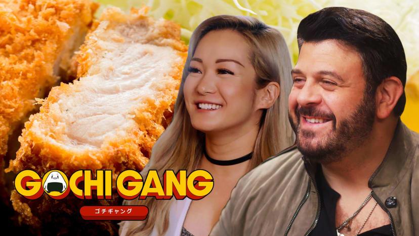 Adam Richman Gets a Crash Course in Japanese Fried Food | Gochi Gang