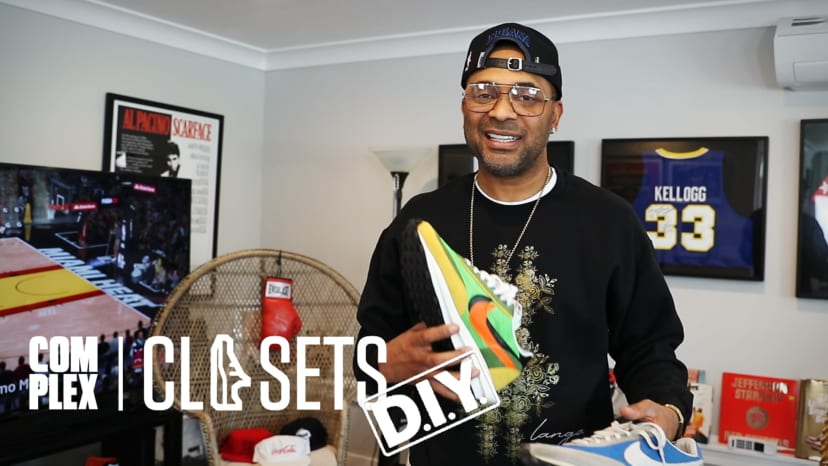 Comedian Mike Epps Shows Off Over $30,000 Of Rare Jordans On Complex Closets