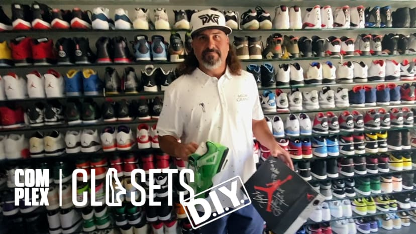 Pat Perez Shows Off Golf's Best Sneaker Collection On Complex Closets