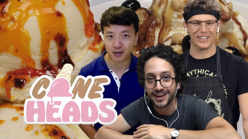 Epic Ice Cream Sundae Battle with Mike Chen, Mythical Chef Josh, and Alex French Guy Cooking | Coneh