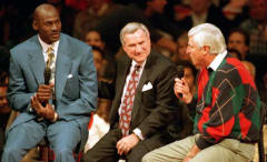 Michael Jordan with Dean Smith and Bobby Knight