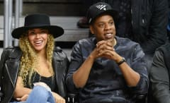 This is a photo of Beyoncé and Jay Z.