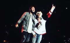This is Post Malone and Justin Bieber on stage togethter.