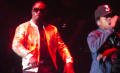 This is Puff Daddy and Chance the Rapper at the Bad Boy Reunion Tour Chicago.