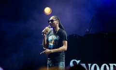 This is an image of Snoop Dogg performing.