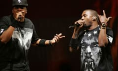 Photo of Jay Z and Kanye West's tour.
