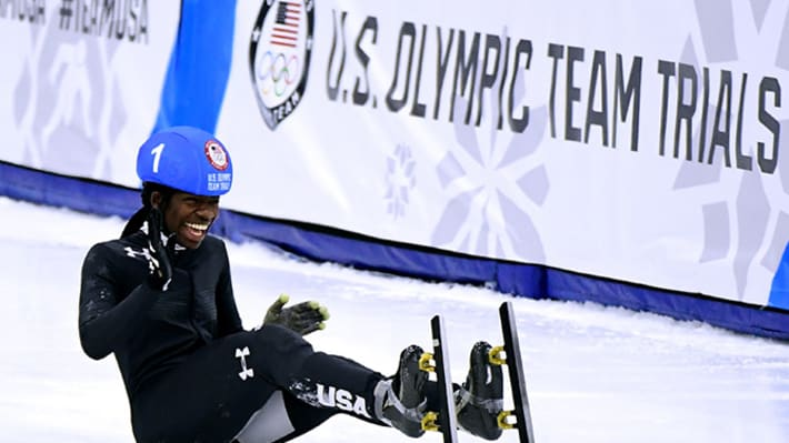 Maame Biney Becomes First Black Woman on U.S. Olympic Speedskating Team
