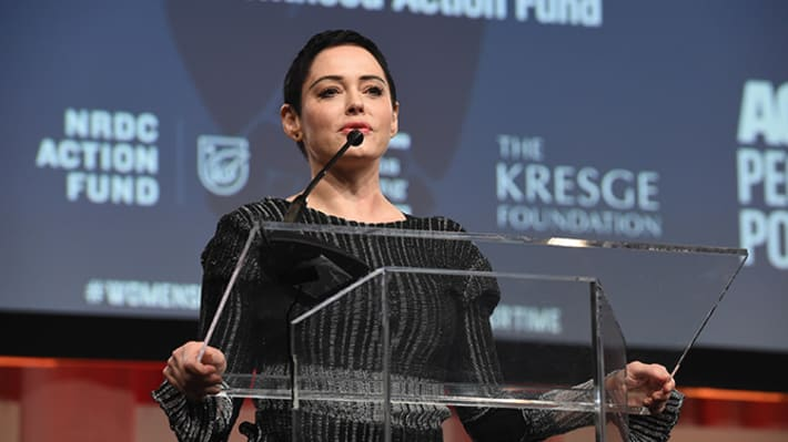 Rose McGowan Isn't Happy About the Golden Globes Silent Protest