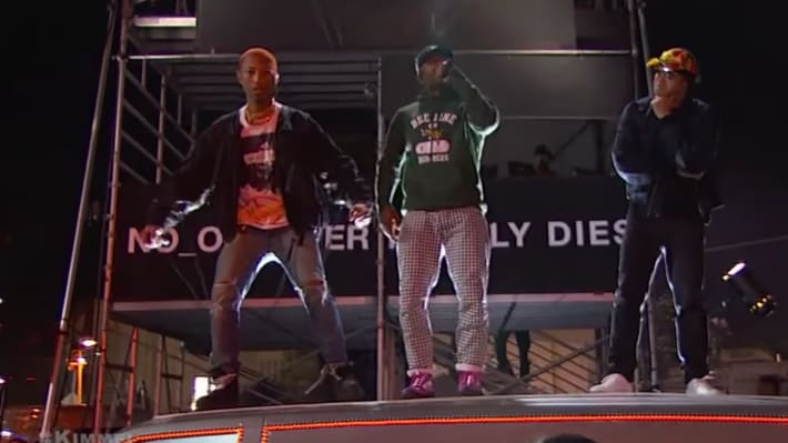 "N*E*R*D Celebrates New Album With Elaborate 'Kimmel' Performances of ""1000"" and ""Lemon"""