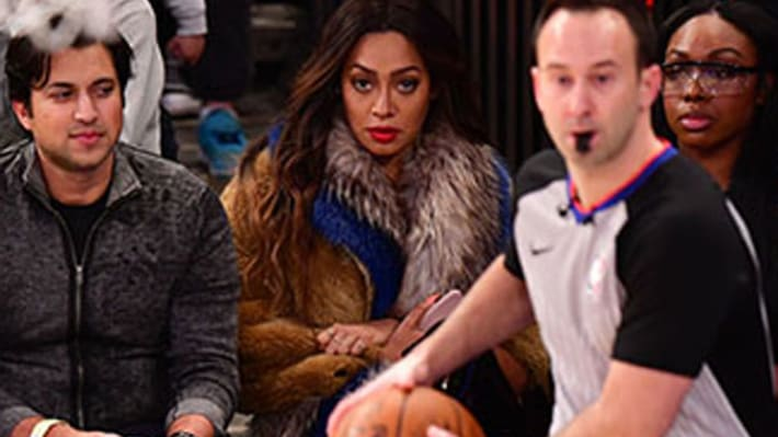 Lala Anthony Staring at Carmelo Had the Internet Dropping Some Wild Opinions