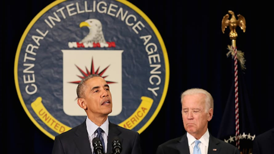 Obama and Biden at CIA