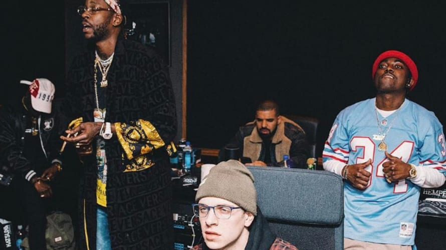 2 Chainz in Studio With Drake
