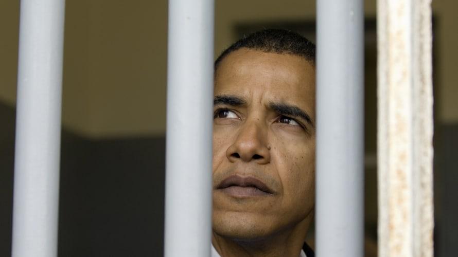 obama visits nelson mandela's cell