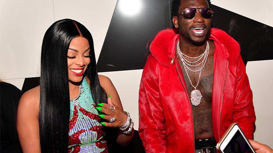 This is a photo of Gucci Mane and Keyshia Ka'oir.