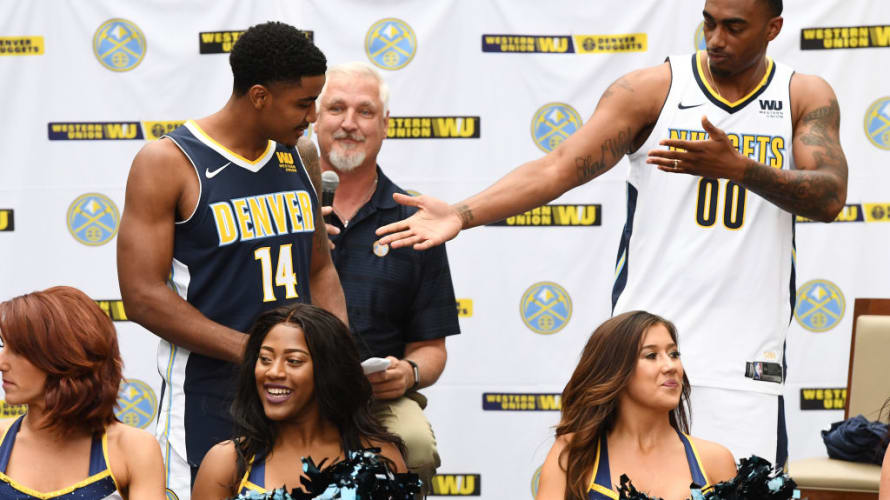 Nuggets Jerseys Reveal NBA 2017 Getty