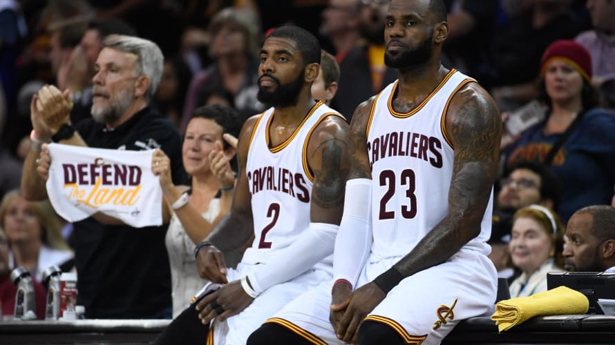 Kyrie Irving LeBron James Game 4 NBA Finals 2017