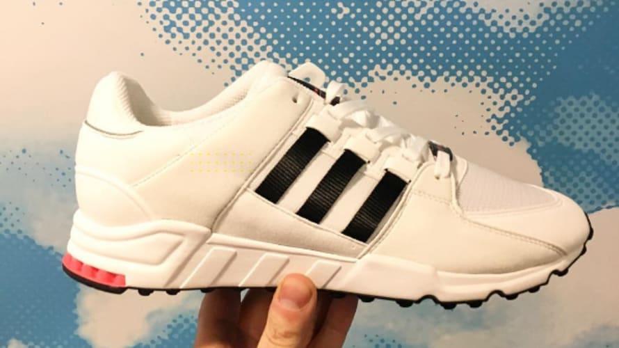 Adidas EQT White/Turbo Red