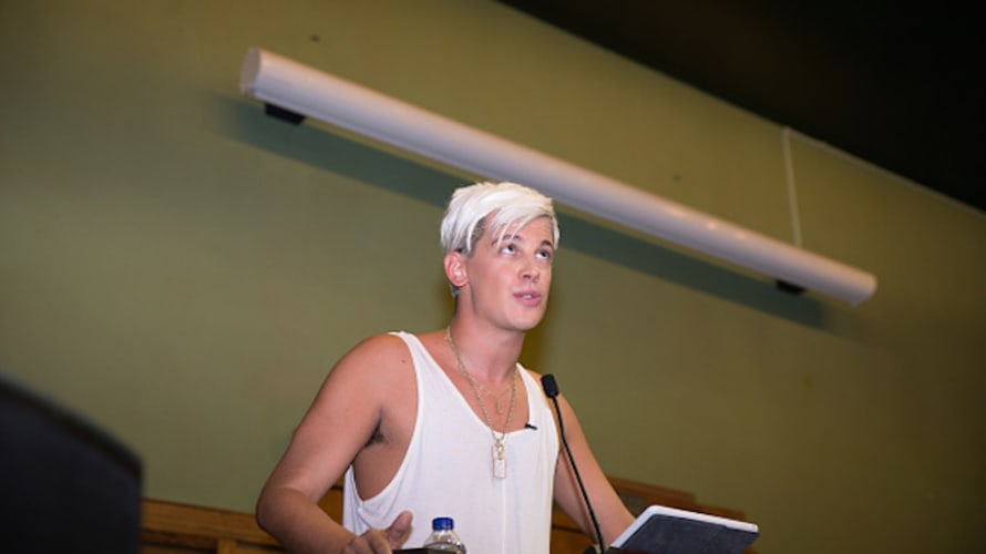 Milo Yiannopoulos speaks at the Young British Heritage Society launch event