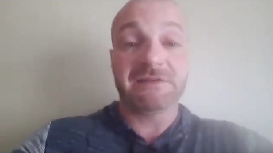 Chris Cantwell fights back tears in emotional message to police.
