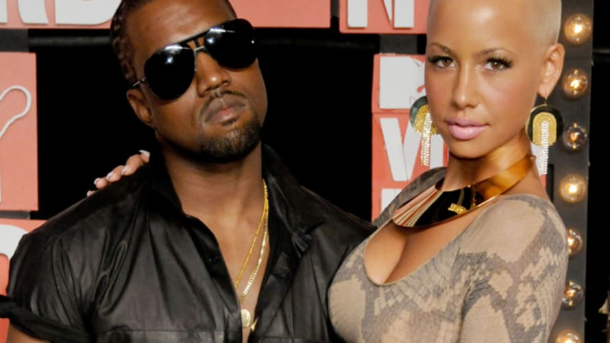 Kanye West and Amber Rose at the 2009 MTV Video Music Awards