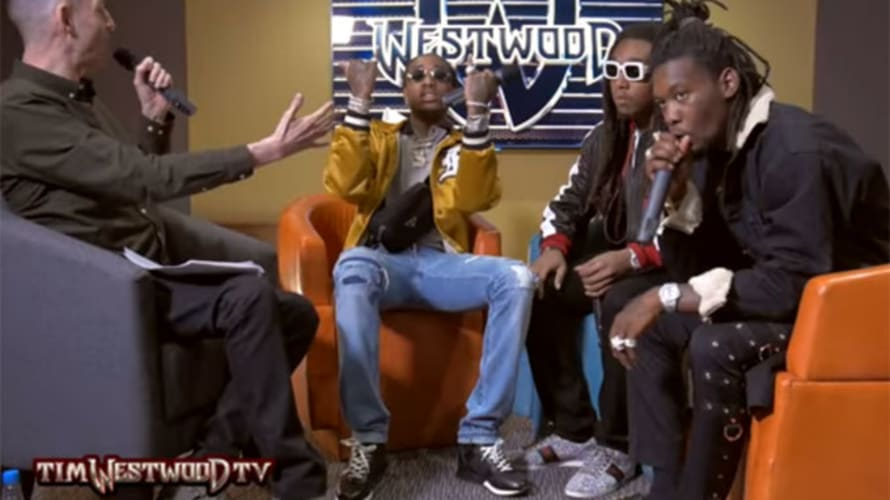 Migos on the set of Tim Westwood TV.