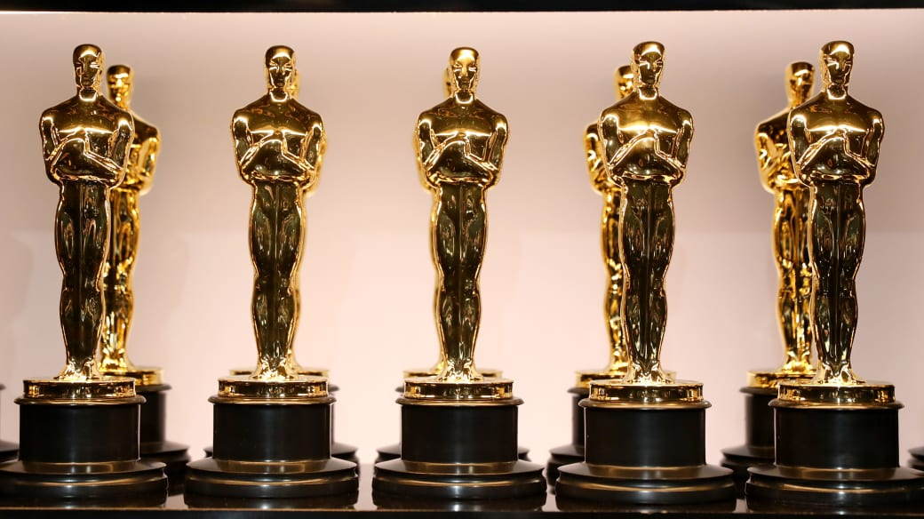Oscar Statues at the 90th Annual Academy Awards