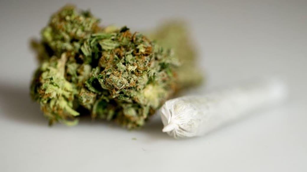 A marijuana joint.