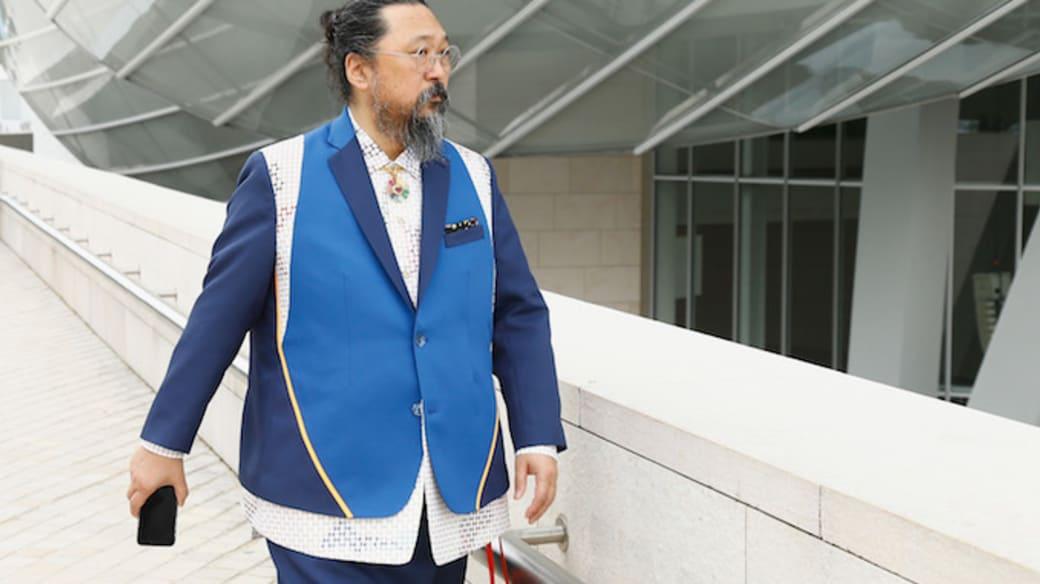 Japanese Artist Takashi Murakami attends 'Au Diapason Du Monde' Exhibition.