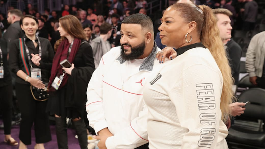 This is a photo of Queen Latifah and DJ Khaled.