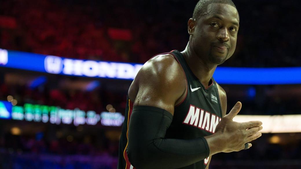 Dwyane Wade Heat Sixers 2018 Playoffs Game 1