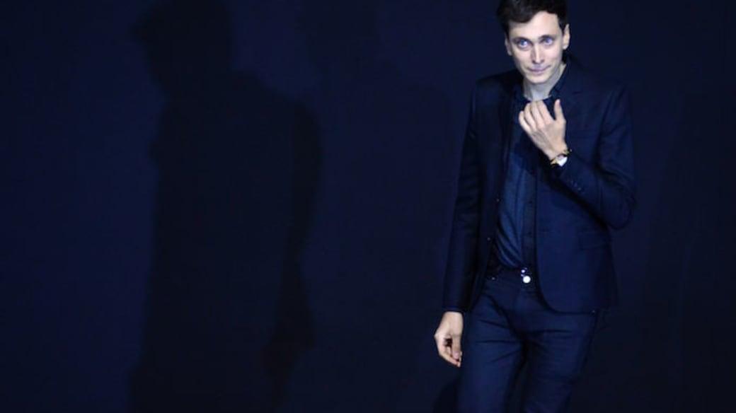 French-born designer Hedi Slimane during his Saint Laurent tenure.