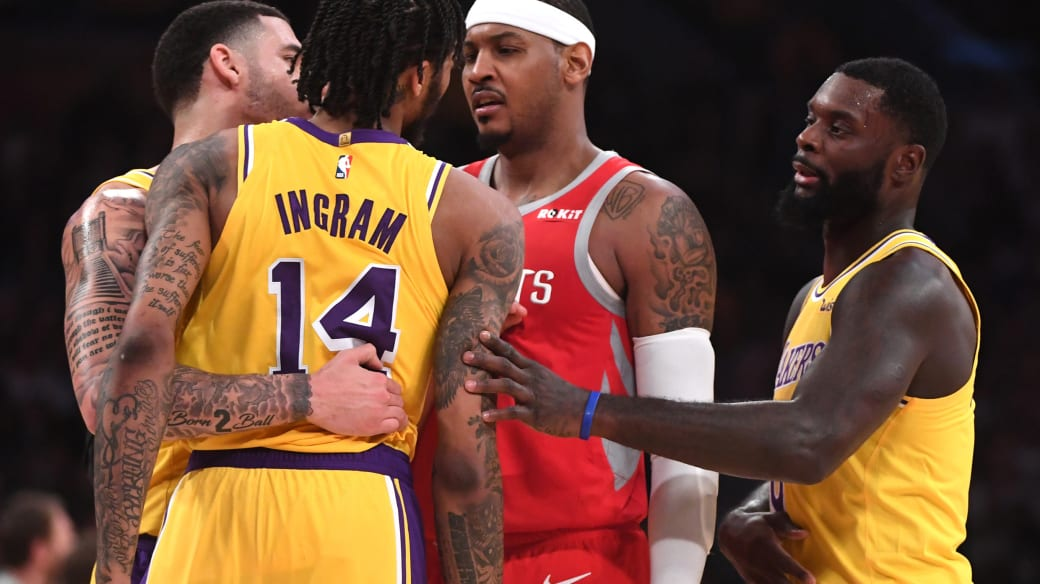 Carmelo Anthon Brandon ingram Lakers Rockets 2018