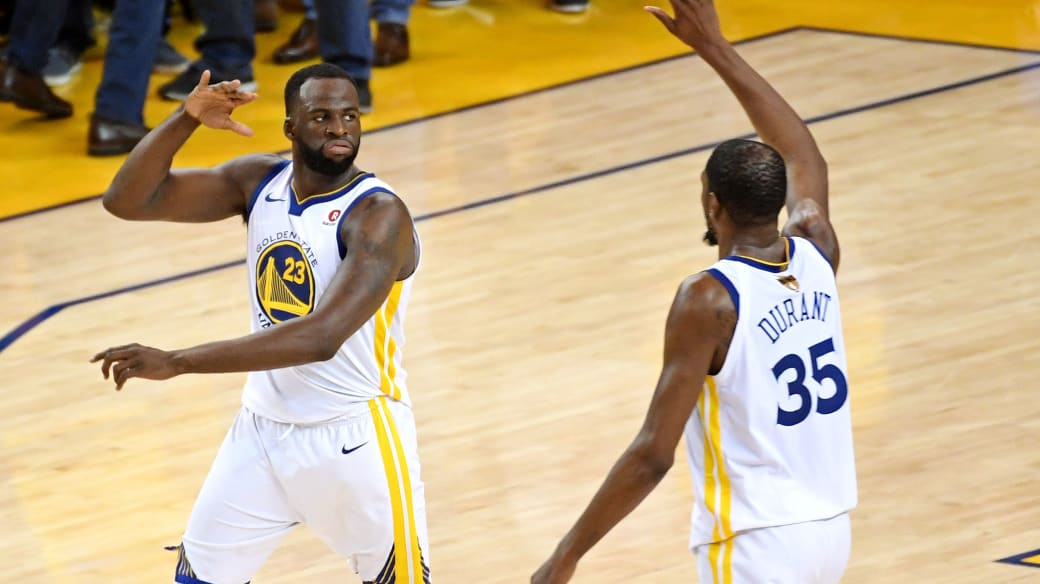 Draymond Green Kevin Durant 2018 NBA Finals Game 1