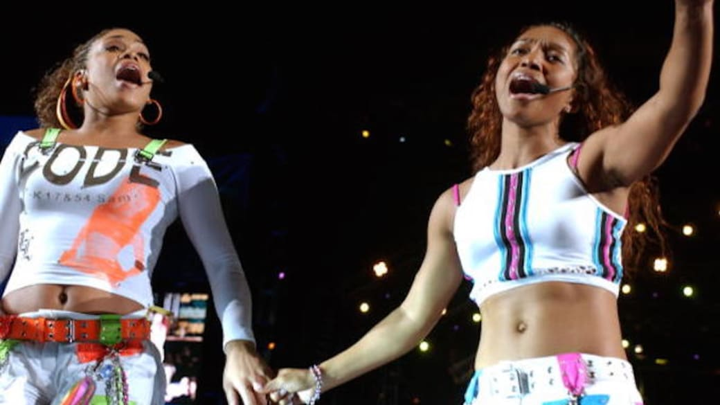 T-Boz and Chili of TLC in their last concert as a group.