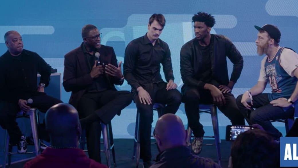 Russ Bengston hosts a panel at NBA All-Star Weekend.