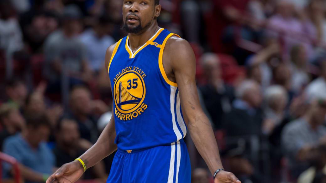 Kevin Durant Warriors Heat 2017