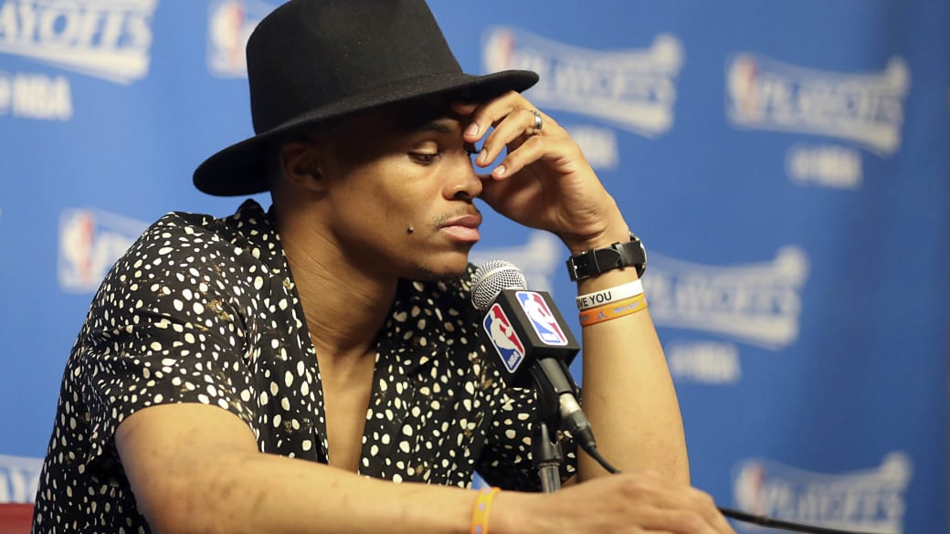 Russell Westbrook Press Conference Game 5 2017