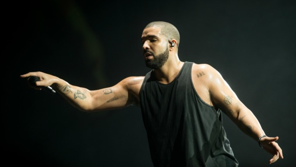 Drake performs in London.