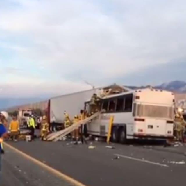 Tour Bus Crash Los Angeles