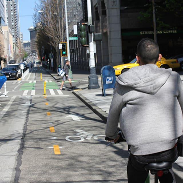 Uber Self Driving Car Bikers