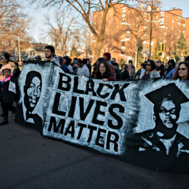 Student writes black lives matter in essay