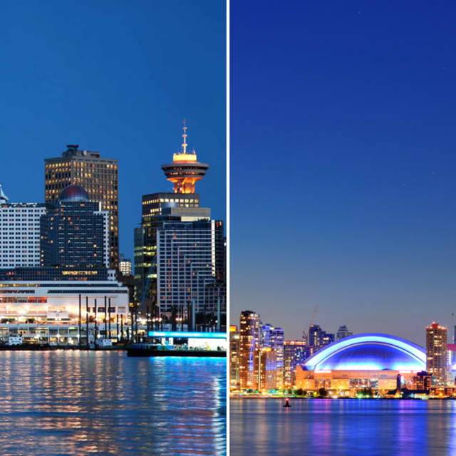 Congrats Canada! Vancouver and Toronto are both named on