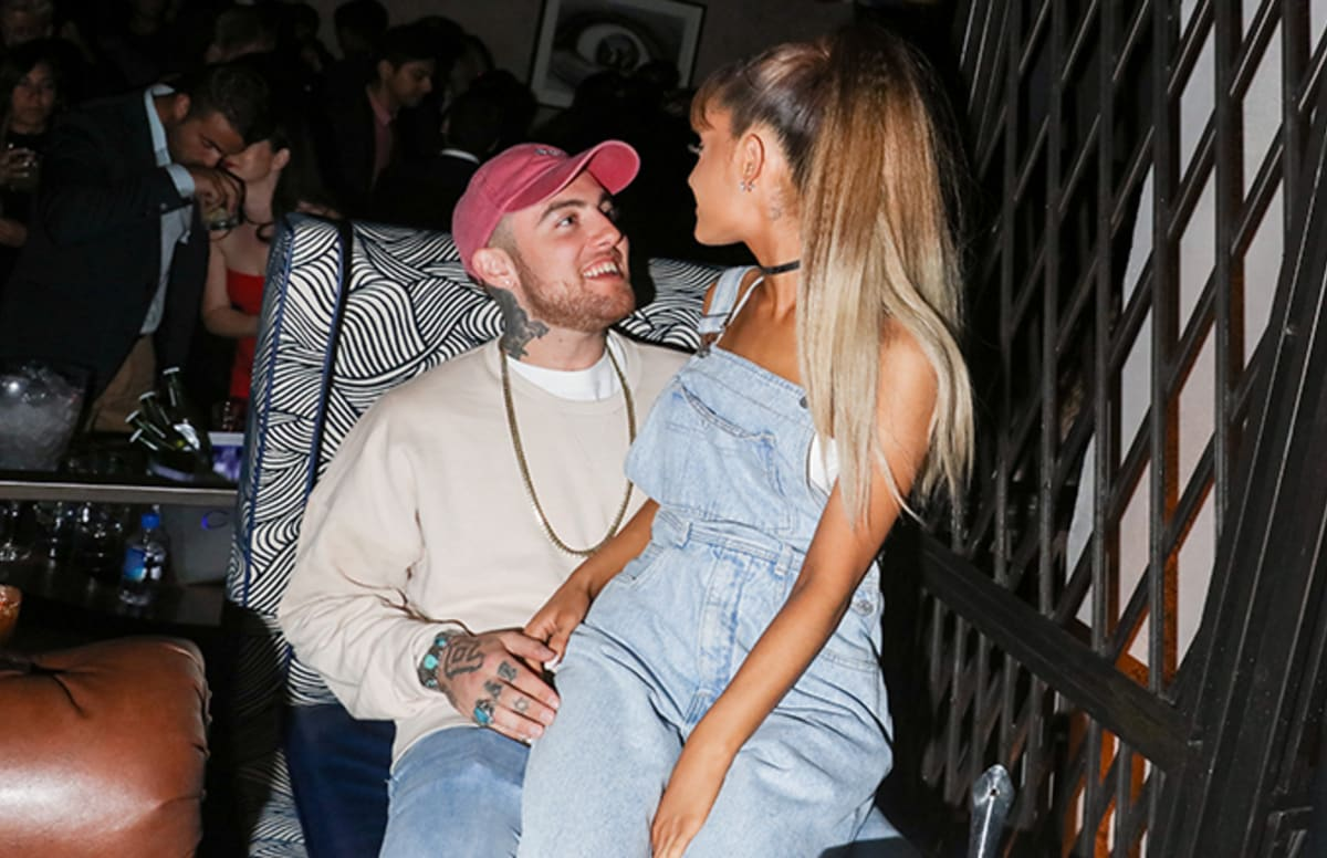 ariana grande shares touching photo with mac miller on thanksgiving